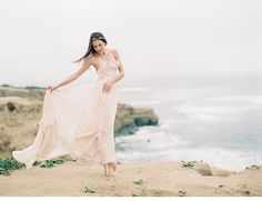 blush coastal wedding inspiration by Carmen Santorelli Photography and To La Lune