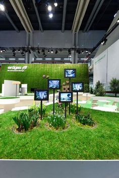 Love the juxtaposition of hi-tech with nature! ~ Goldener Swissbau Design Award für Erdgas Messeauftritt | werbewoche