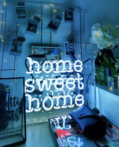 Home Sweet Home neon sign via @helloconfettidreams neons
