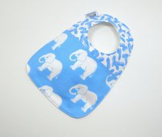 Baby Bib / Elephant Baby bib / Elephant and by TextileTrolley, $12.00