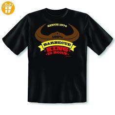 Originelles Fun Shirt! Geschenk zum 40. Geburtstag! King of Barbecue 1974 T-Shirt! Der Grillkönig ist geboren! Gr: XL Farbe: schwarz - Shirts zum 40 geburtstag (*Partner-Link)