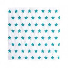 Teal Blue Star Paper Napkins