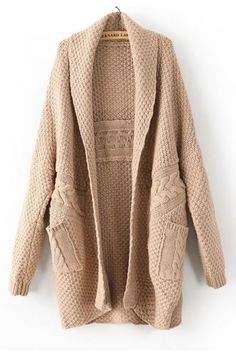 Large Version twist weave sweater cardigan_Sweaters_CLOTHING_Voguec Shop