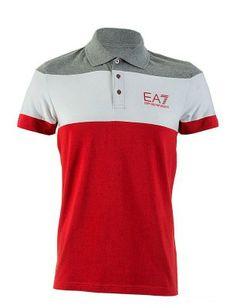 Armani Polo hombre EA7 | rojo Armani Polo, Emporio Armani, Mens Polo T Shirts, Polo Shirt, T Shart, Shirt Designs, Polo Ralph Lauren, Vogue, Mens Fashion