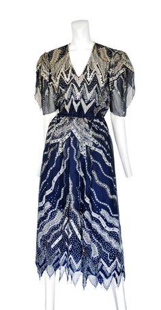 Zandra Rhodes vintage printed chiffon dress