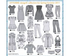 Sewing patterns, fabrics and more… Sewing Patterns, Spring Summer, Fabric, Clothes, Image, Swim Wear, Magazines, Lingerie, Drawing