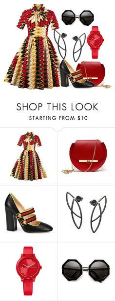 """""""Vintage Geometry"""" by lucypumkinjack-1 ❤ liked on Polyvore featuring Angela Valentine Handbags, Gucci, Tommy Hilfiger and vintage"""