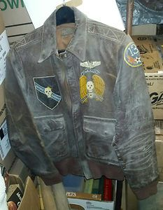 Image detail for -WWII Bomber Barons Painted A2 Leather Bomber Jacket 13th Jungle aaf ID ...