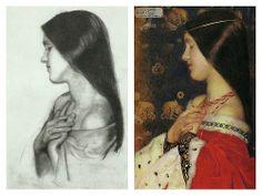 study & painting of The Patient Griselda, Frank Cadogan Cowper