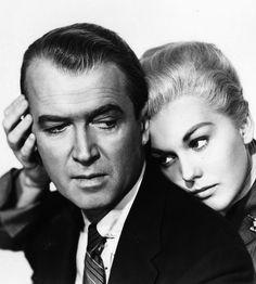 Kim Novak and James Stewart in Vertigo (Alfred Hitchcock, 1958)