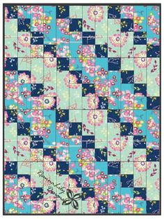 Strip-Pieced Diagonal Beginner Quilt