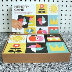 Modern Menagerie Memory Game