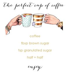the perfect cup of coffee via the kinch life blog