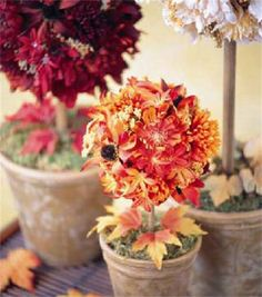 Fall Forest Topiary | Leaf Centerpieces | Fall Wedding Centerpieces | Fall Decorations