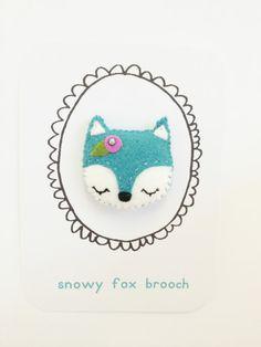 Snowy+Fox+Brooch+by+littlehappystitches+on+Etsy,+$10.00