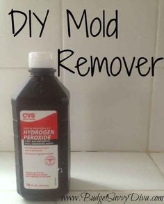 DIY Mold Remover cup hydrogen peroxide or 1 tsp tea tree oil and 1 cup water in spray bottle. Spray the mold/mildew and allow to sit for an hour. Rinse and wipe clean (tougher mold may need to be scrub).