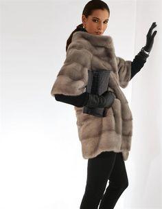 Mink coat, Bag, Gloves