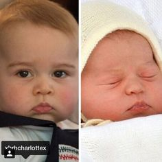 George and Charlotte: They have the same mouth and nose. Too cute!