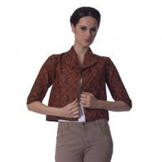 CHANTINK  BOLERO BATIK KU COKLAT   Rp 285,000.00 I www.fashionbiz.co.id Denim, Jackets, Inspiration, Fashion, Boleros, La Mode, Fashion Illustrations, Fashion Models, Jeans Pants