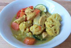 Zöldséges curry csirke paleo