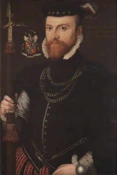 Portrait of Francis Hervey, Anglo/Flemish School, oil on panel, 1564.