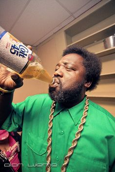 Afroman backstage drinking his Colt 45