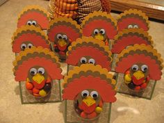 stampin up treat cups turkey | Inky Fingers, Paper Cuts, and a Glitter Mustache: November 2009
