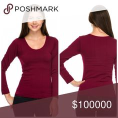 Heaven! Stay warm! Fleece lined seamless top! Stay warm and cozy in our seamless fleece lined scoop neck top for fall! Wear all your boho blouses and stay warm! Tops