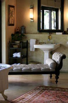 Bathroom Seating at Royal Malewane Game Lodge
