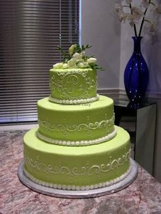 Pink and Lime Green Cakes | Austin Cake Lady: Photos