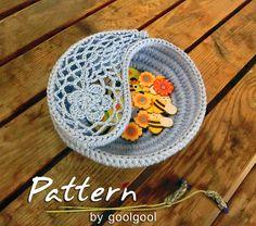 Ganchillo Tutorial foto Yin Yang Paisley joyería por goolgool