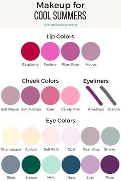 Cool Summer Makeup Colors