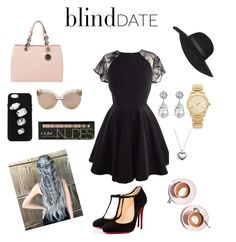 Blind Date by tatagiacinta on Polyvore featuring polyvore fashion style Christian Louboutin MICHAEL Michael Kors Michael Kors Pandora Kenneth Jay Lane STELLA McCARTNEY Topshop Linda Farrow Martha Stewart clothing