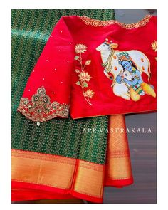 Blouse Designs High Neck, Hand Work Blouse Design, Half Saree Designs, Silk Saree Blouse Designs, Stylish Blouse Design, Fancy Blouse Designs, Blouse Designs Catalogue, Girls Dresses Sewing, Computer Works
