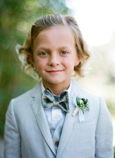 Adorable ring bearer style: http://www.stylemepretty.com/2016/05/23/ethereal-garden-party-style-wedding/ | Photography: Jose Villa - http://josevilla.com/