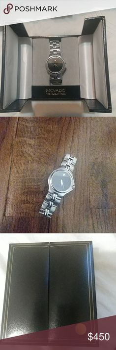 Movado Mens Watch with box Elegant watch with minor scratches near the 11th hour. Movado Accessories Watches