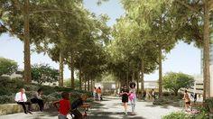 Floating Above a Freeway, Innovative New Park Celebrates Walkability in Atlanta #city #urban #bridge #concept #landscapearchitecture