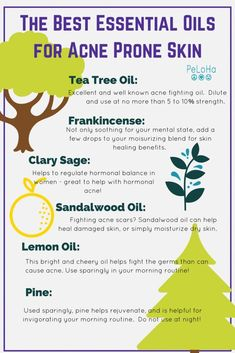 best essential oils for acne - mix as no more than 15% of your blend #ToenailFungusVinegar Essential Oils For Skin, Essential Oil Uses, Young Living Essential Oils, Skin Care Treatments, Acne Treatment, Doterra, Organic Skin Care, Natural Skin Care, Natural Beauty
