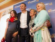 """Kiev Mayor Vitaly Klitschko and Andriy Khalpakhchi  at Kiev International Film Festival """"Molodist""""."""