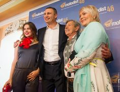"Kiev Mayor Vitaly Klitschko and Andriy Khalpakhchi  at Kiev International Film Festival ""Molodist""."