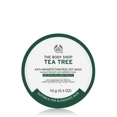 Instantly leave skin looking clearer and mattified and feeling decongested in 4 simple steps with our DIY Tea Tree Anti-Imperfection Peel-Off Mask. Enriched with Community Trade tea tree oil from Kenya, simply add water to our vegan formula, mix, mas The Body Shop, Body Shop Tea Tree, Body Shop At Home, Masque Peel Off, Peel Off Mask, Mascarillas Peel Off, Acne Blemishes, Acne Scars, Kenya