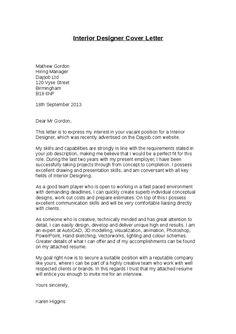 Amazing Cv Cover Letter For Interior Designer Writefiction581 Web Fc2