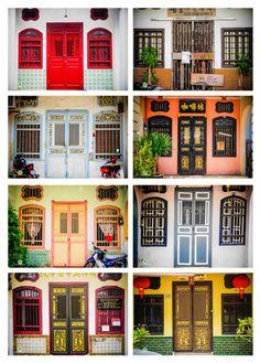 The doors of Georgetown, Penang