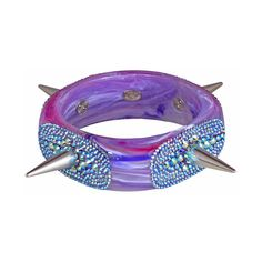 "BEASTLY BIJOUX ""SIOUXSIE"" BRACELET ($400) ❤ liked on Polyvore featuring jewelry, bracelets, accessories, bracciali, women, spike bracelet, square bangle bracelet, steel jewelry, spike bangle bracelet and tarina tarantino"