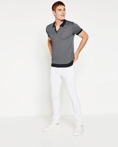ZARA - SALE - JACQUARD POLO SHIRT