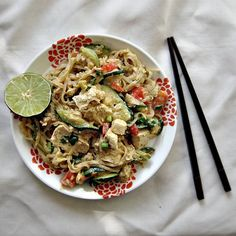 Asian Noodle Salad with Cashew Dressing (Vegan) - Joanne Eats Well With Others