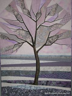 "Art Quilt - ""Frosty Winter Morning"". $1,000.00, via Etsy."