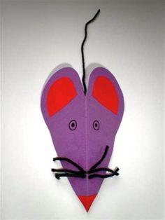 Muis Easy Crafts For Kids, Pet Shop, Art Lessons, Holiday Crafts, Origami, Paper Crafts, Creative, Kindergarten, Spring