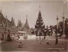 East Corner Shive Dagone Pagoda by Philip Adolphe Klier
