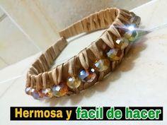Como hacer una diadema con perlas - YouTube Bead Embroidery Patterns, Beaded Embroidery, Diy Headband, Headbands, Jeweled Headband, Diy Hair Bows, Diy Hairstyles, Scrunchies, Handicraft